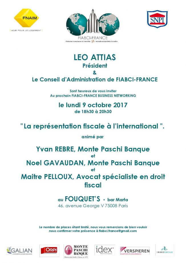 BUSINESS NETWORKING – Lundi 9 octobre 2017