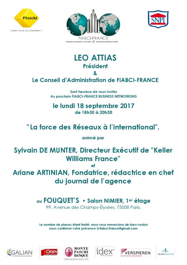 BUSINESS NETWORKING – Lundi 18 septembre 2017