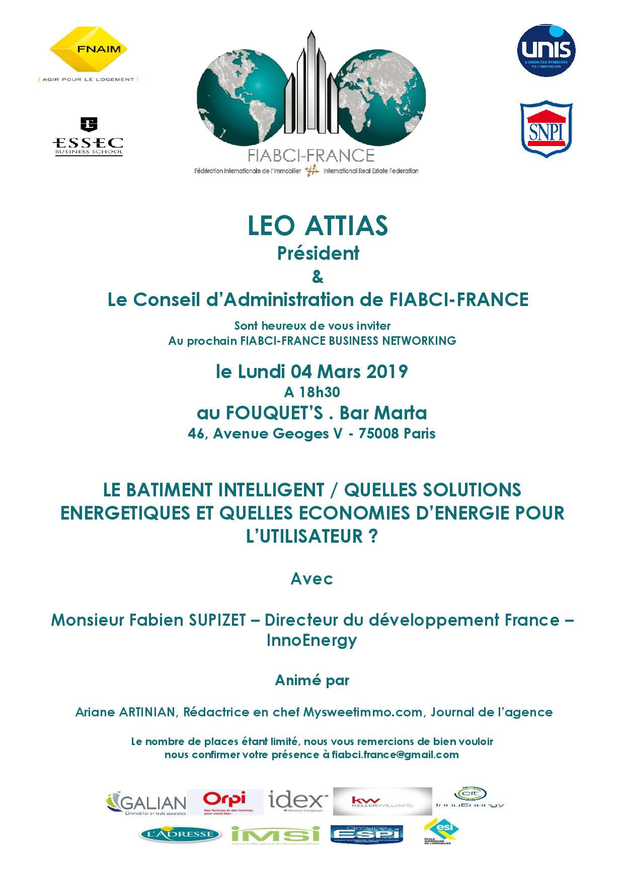 Business Networking du Lundi 04 Mars 2019