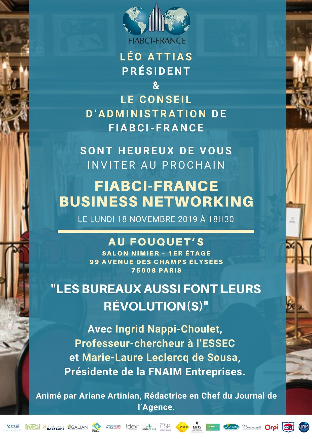 Invitation – Business Networking du 18 Novembre 2019