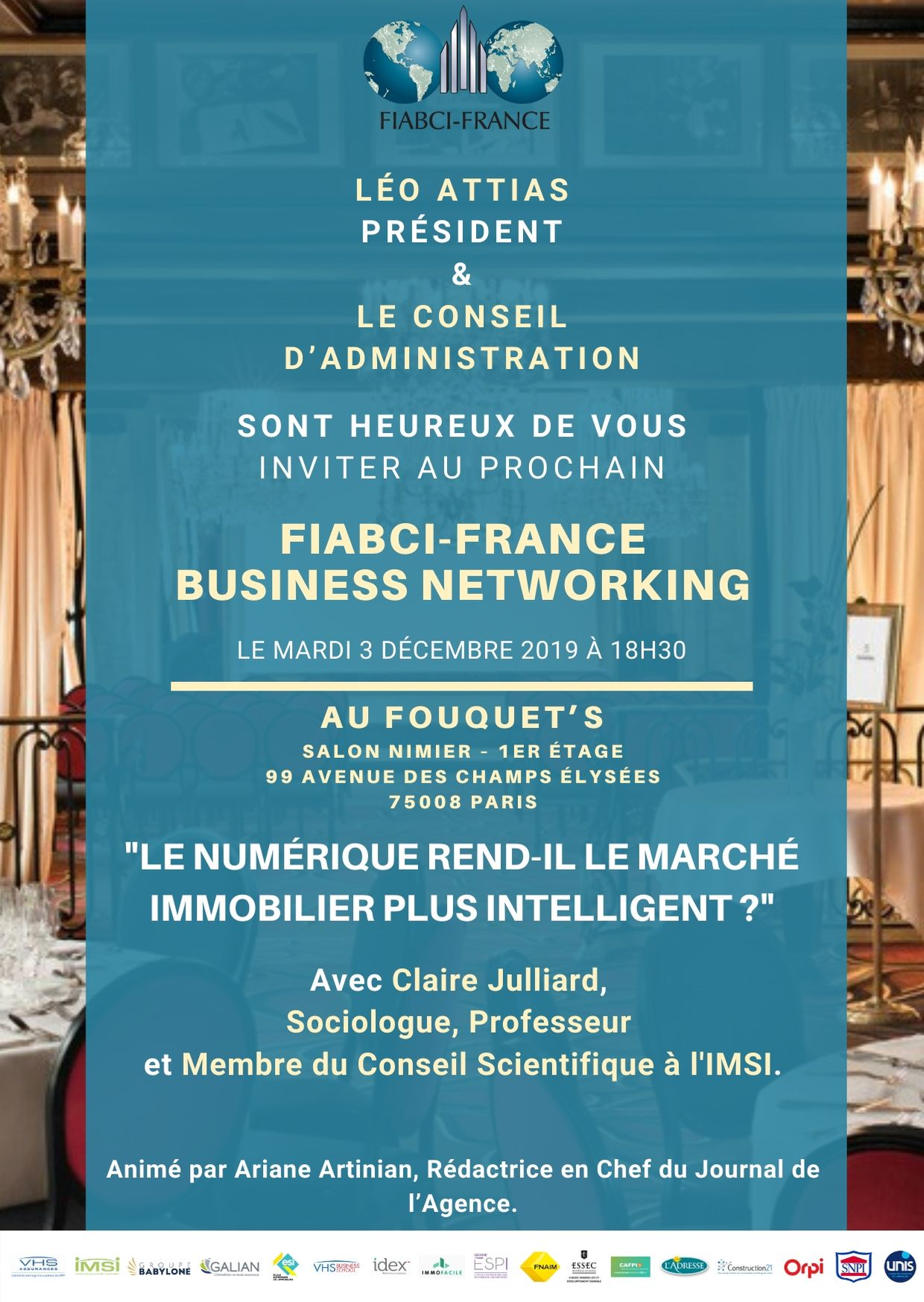 Business Networking Fiabci France du mardi 3 décembre 2019