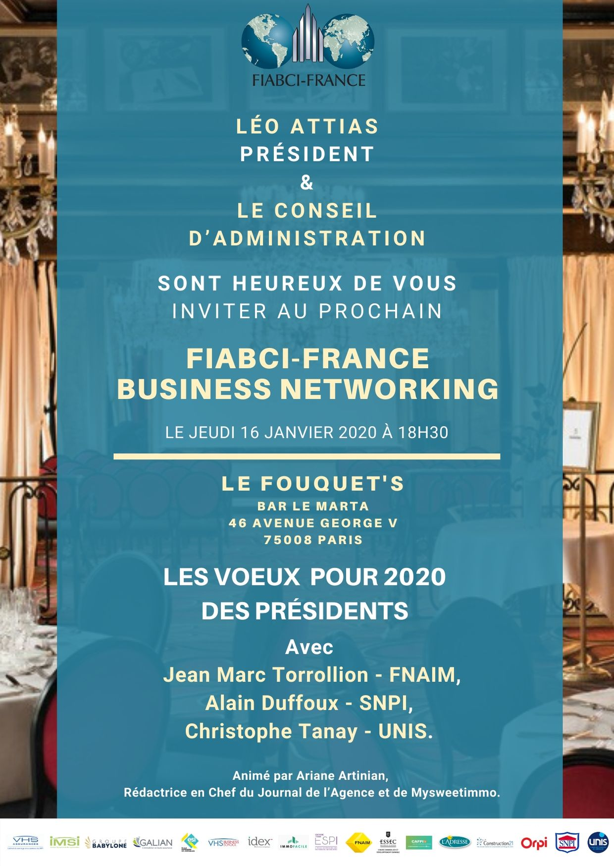 FIABCI France Business Networking du jeudi 16 janvier 2020