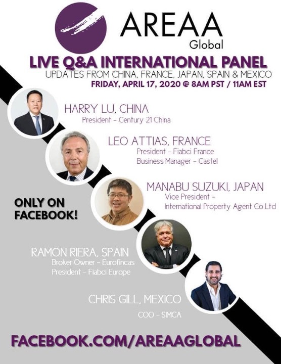 Webinar Immobilier International – AREAA Global LIVE Q&A With International Guests